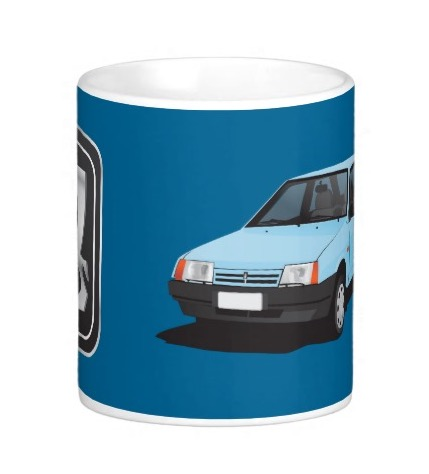 VAZ-2109 Lada Samara mug with car and logo