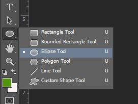 cara menggunakan elipse tool di photoshop