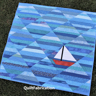 SEAFARER BABY QUILT-SAILBOAT QUILT-NAUTICAL QUILT-OCEAN QUILT