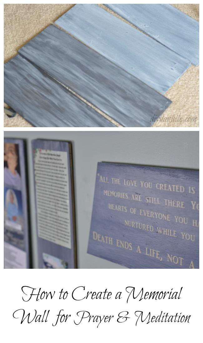 DIY Memorial Wall