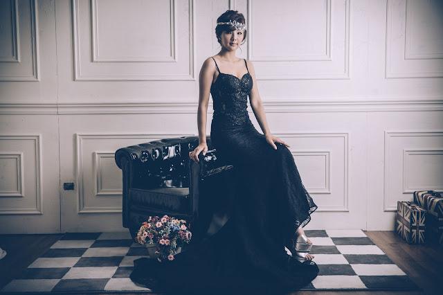 黑色系列優雅手工禮服