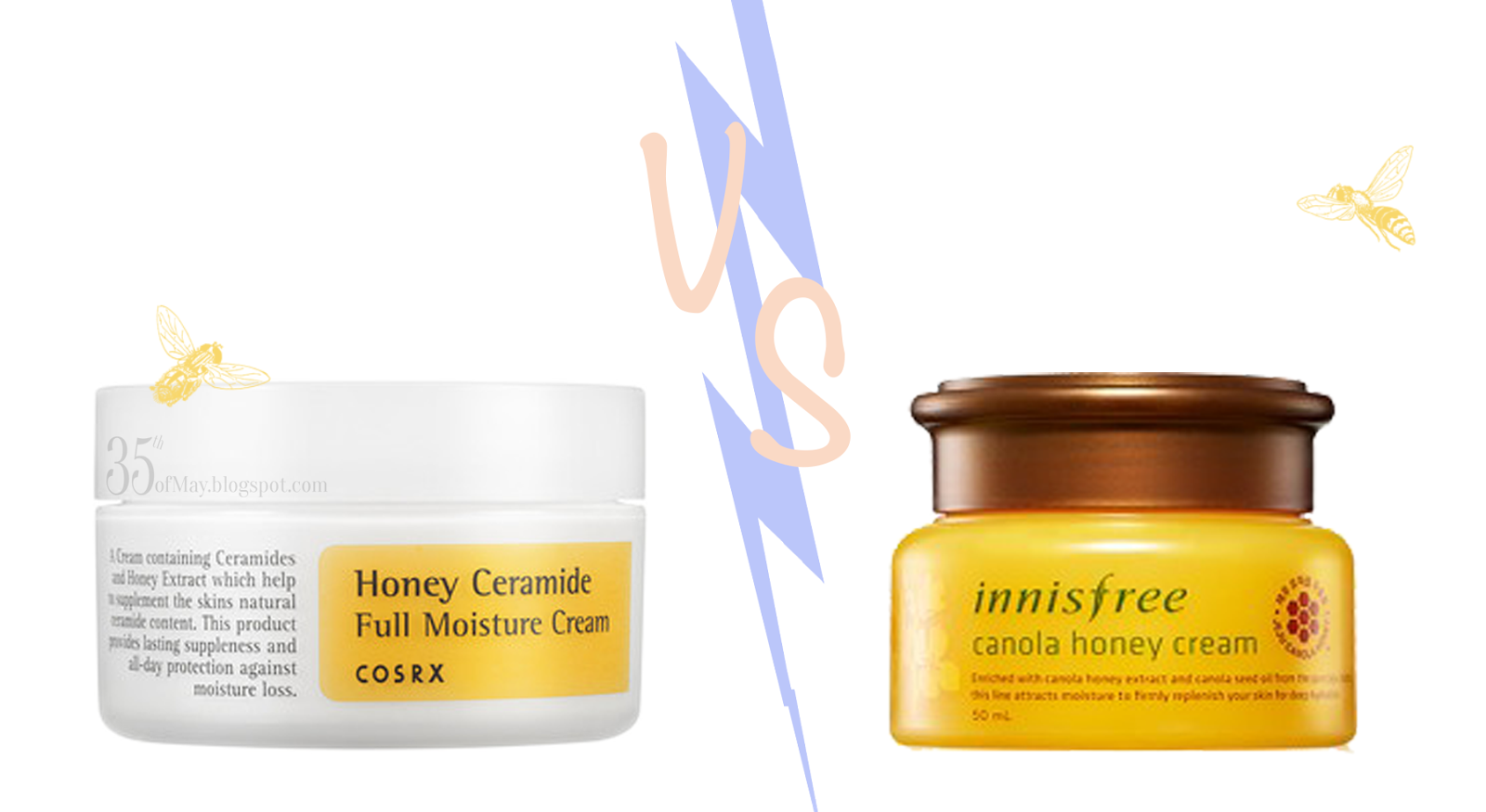 Innisfrees Canola Honey Cream vs Cosrx Ceramide and Honey Cream