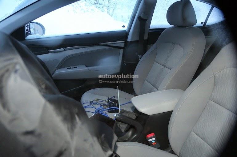 шпионские фото Hyundai Elantra 6-го поколения