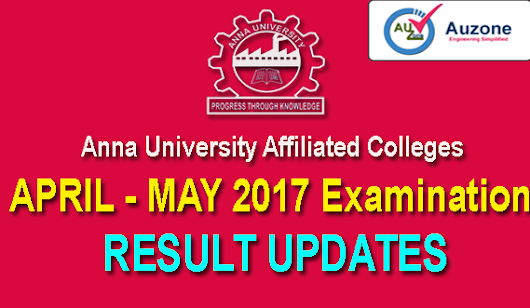 April May 2017 Annauniversity Results Updates ~ Au - Zone