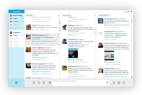 Dektop Twitter client
