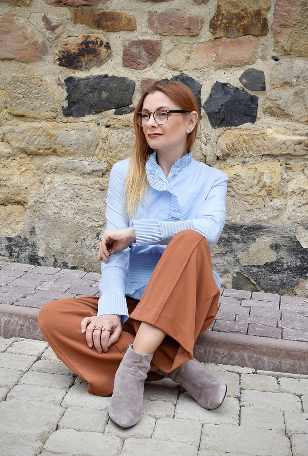 Weite Strickhose für Frauen, Damenhose mit weiten Beinen