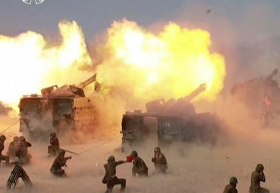 Coreia do Norte - Demonstração de Fogo