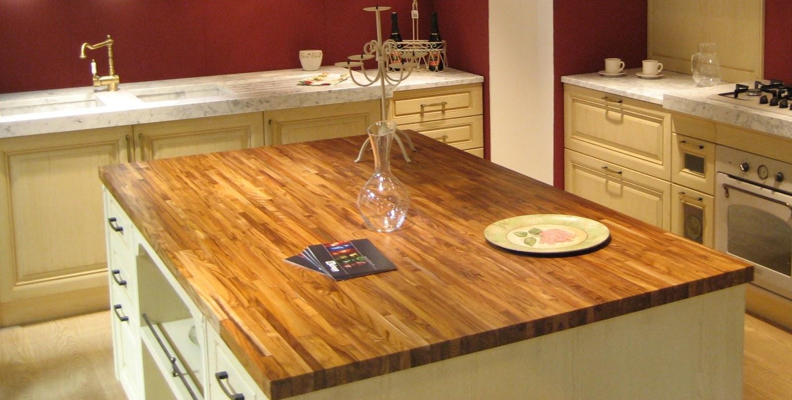 Encimeras de cocina c mo usar y conservar cocinas con - Encimera de madera maciza ...