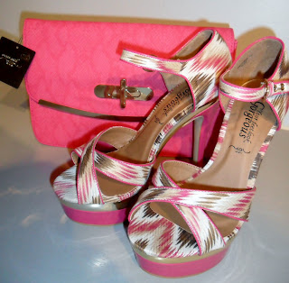 New Look Pink Shoes with Pink Clutch Bag