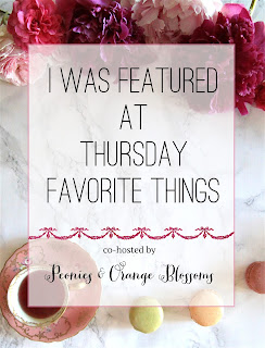 I was featured at Thursday Favorite Things!!