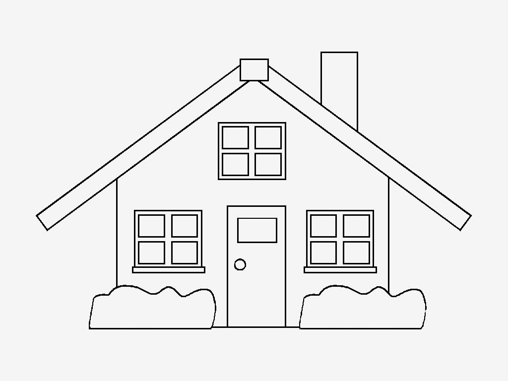 Desenhos Para Pintar: Casas Coloridas,desenhos De Casas