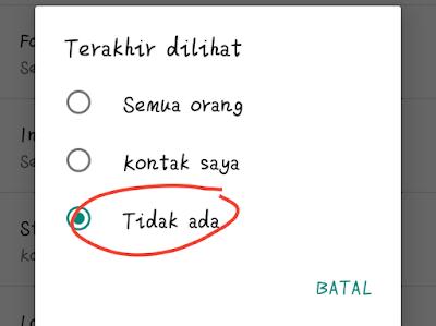Menyembunyikan Status Online Di WhatsApp