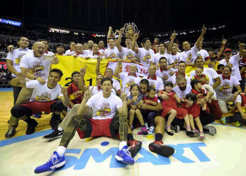 San Miguel Beermen Philippine Cup Champions 2015 (Photo Gallery)
