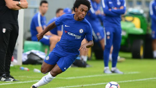 Willian replies when asked if he'll still be at Chelsea after January