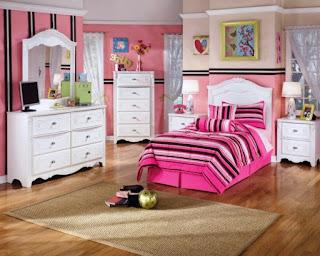 Desain Kamar Tidur Anak Cat Warna Pink