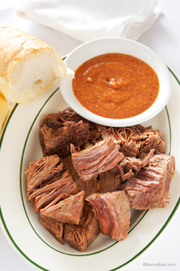 Boiled Brisket of Beef with Spicy Horse Radish Sauce