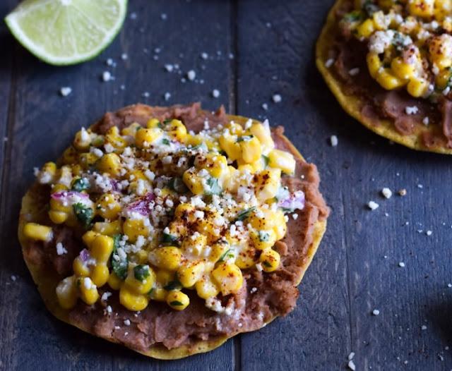 Mexican Street Corn Tostadas #lunch #vegetarian