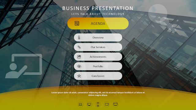 Download Template Power Point Agenda, Index, Table