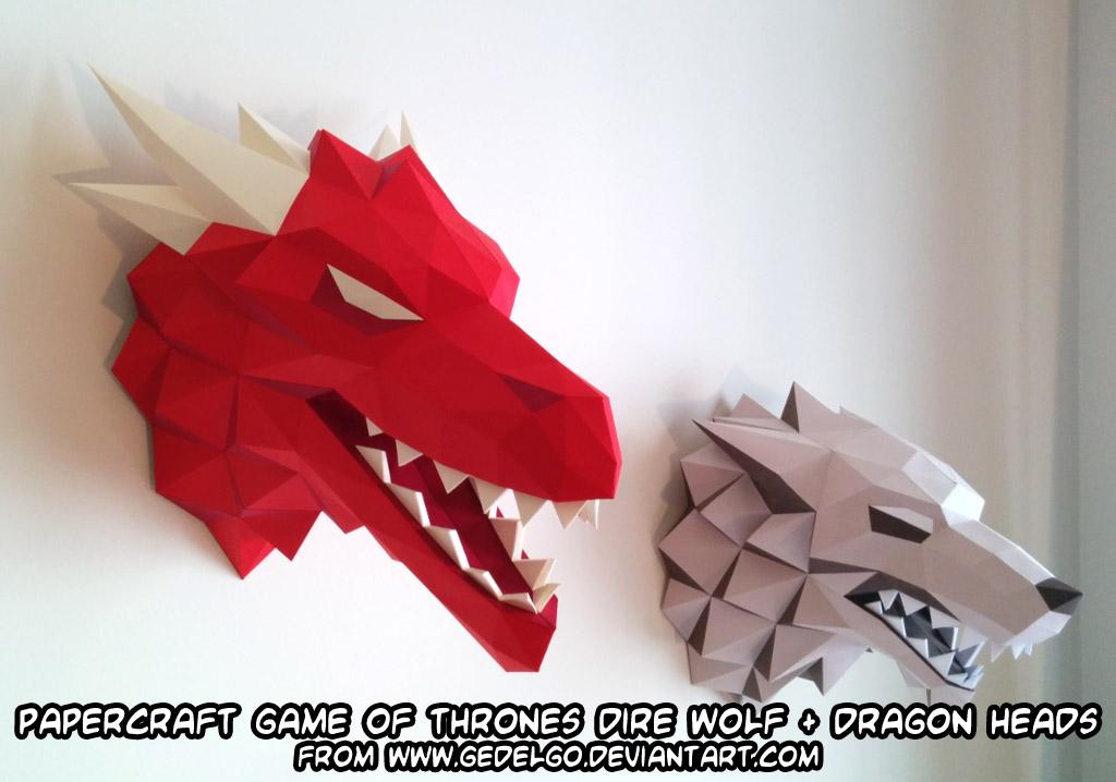 Paper Craft Dragon Head