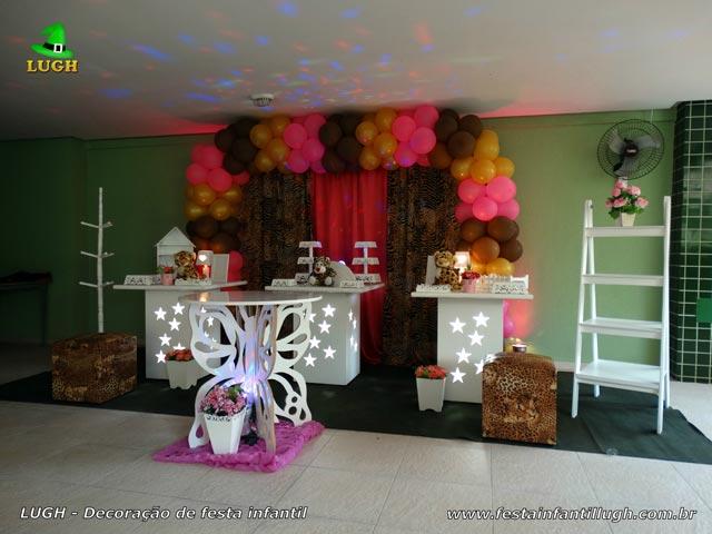 Decoração para festa de aniversário feminino adulto ou adolescente tema Oncinha
