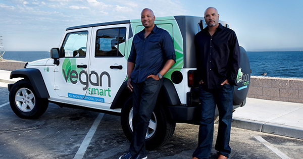 Claude Tellis and Kareem Cook, founders of VeganSmart