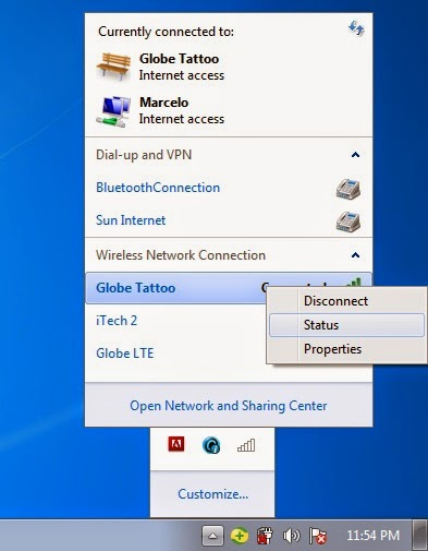 Sharing Internet Network Connection -Wifi Hotspot Laptop