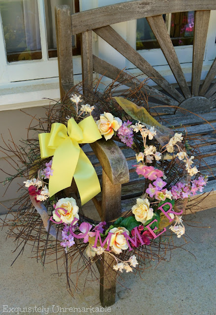 Summer Floral Wreath With Letters