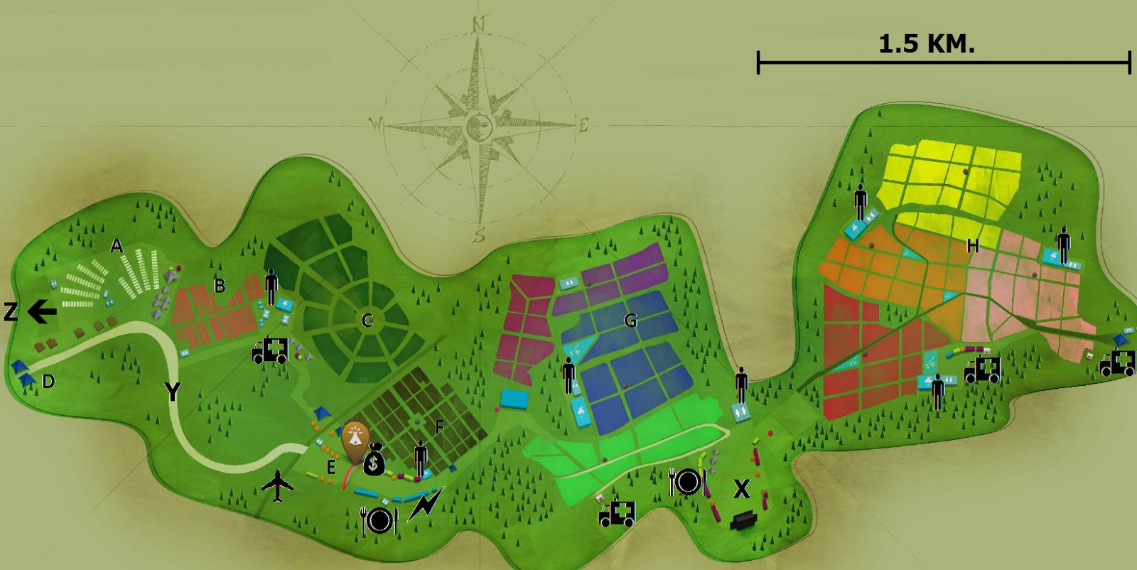 Marca Del Mapa Símbolo De Ios 7: Bienvenido Al DreamVille