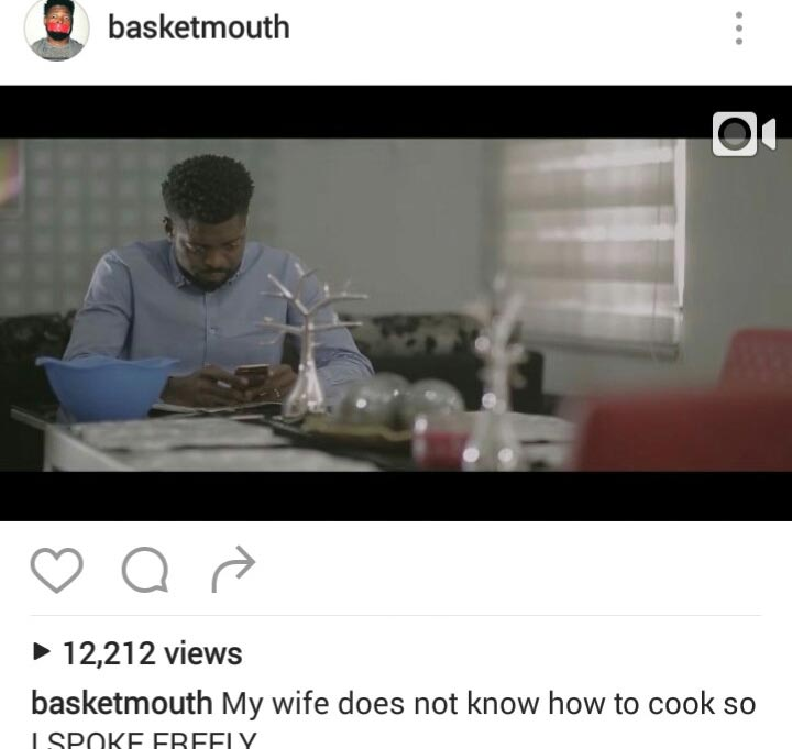 Basketmouth shades Freeze again with new comedy skit