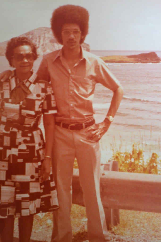 Throwback photo of senator Ben Murray-Bruce with his mother in 1976