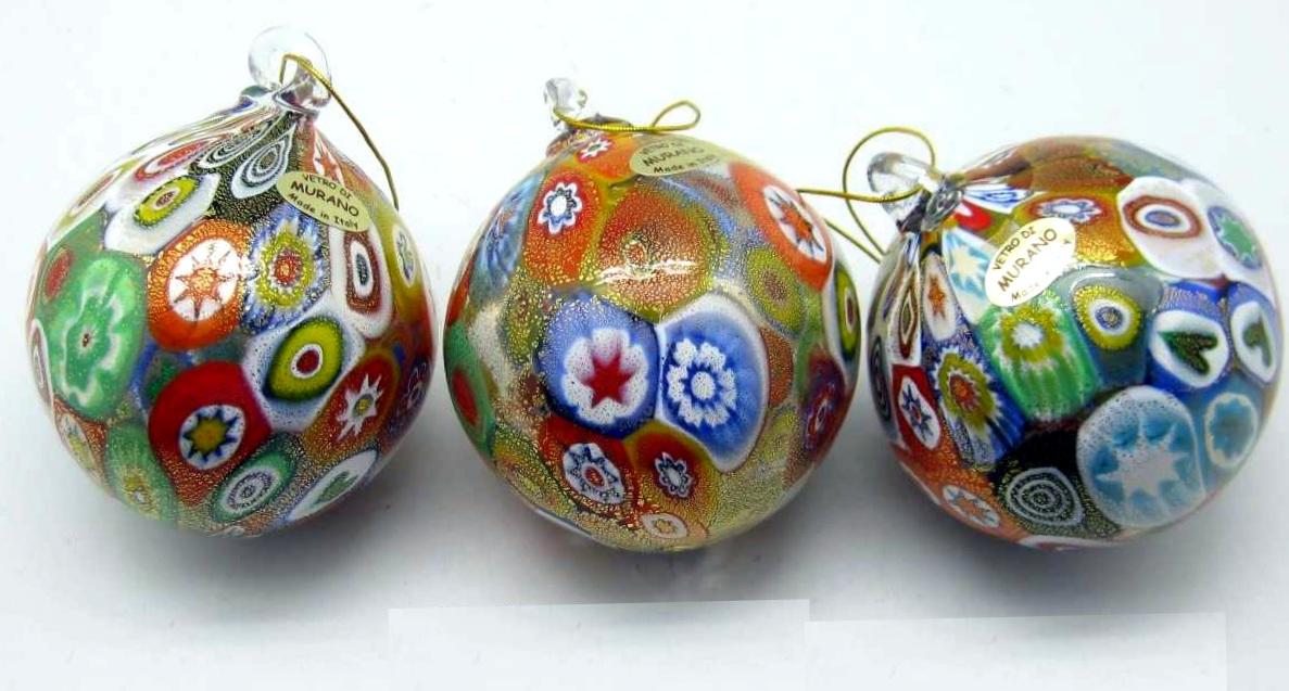 Palline di natale in vetro soffiato e for Lampadario palline vetro