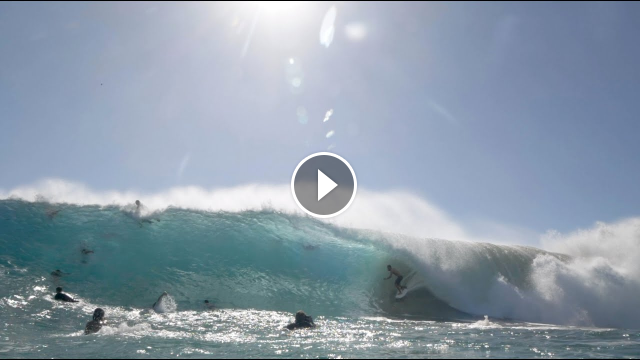 Watch a Cinematic viewing of Cyclone Gretel at Snapper Rocks QLD
