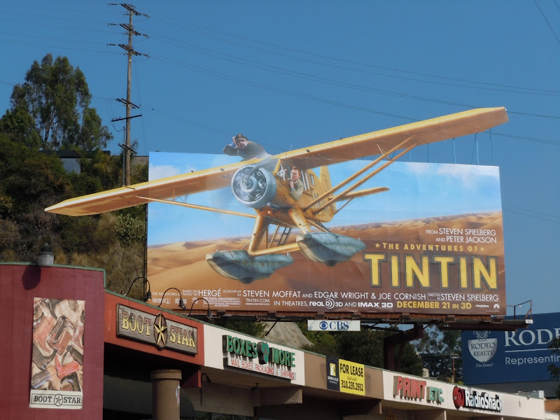 Tintin movie billboard