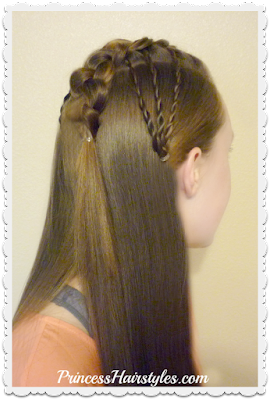 Faux Hawk Fan Braided Hairstyle, Video Tutorial