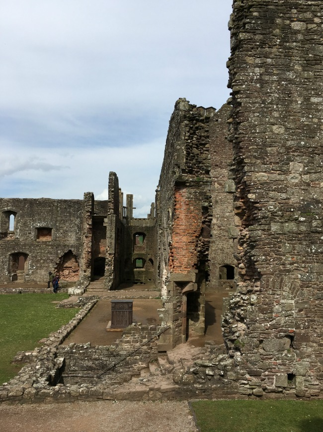 Raglan Castle - inside, more windows and steps
