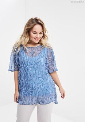 blusa transparente elegante
