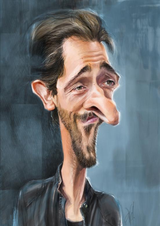 Adrien Brody por Abel Joachim Crayon