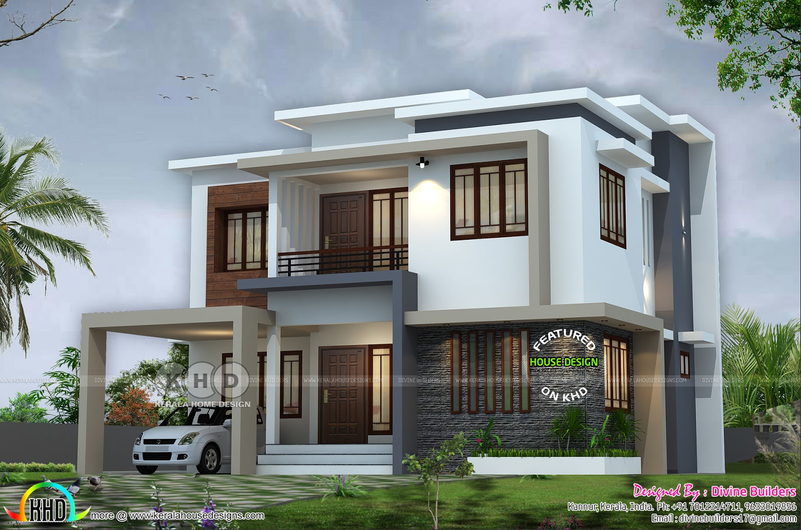 2242 square feet 4 bedroom modern home - Kerala home ...