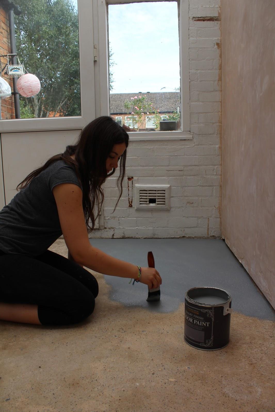 DIY painting a concrete floor