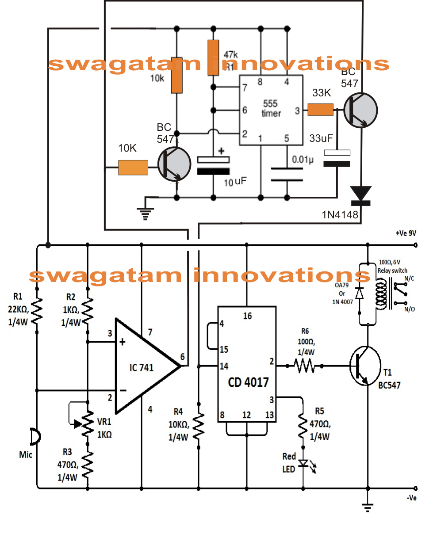 clap clap switch circuit double clap switch circuit