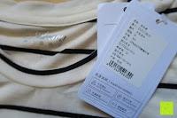 Etikett: Yidarton Damen Crew Neck Base Gestreiftes Kurz Spaltung Casual T-Shirt Top Bluse