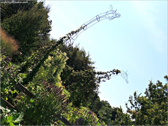 Jirafas del Youth Gardens en el Jardín Botánico de Montreal