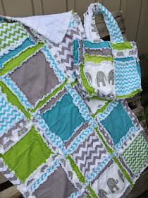Safari Quilt Set for Baby Boy Nursery