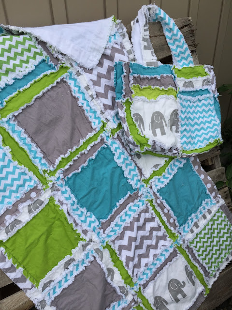 Safari Quilt Set for Baby Boy Nursery