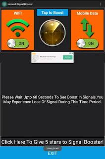 Cara Meningkatkan Sinyal android lemah dengan aplikasi network signal booster