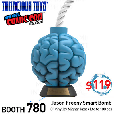 New York Comic Con 2018 Exclusive Blue Smart Bomb Vinyl Figure by Jason Freeny x Mighty Jaxx x Tenacious Toys