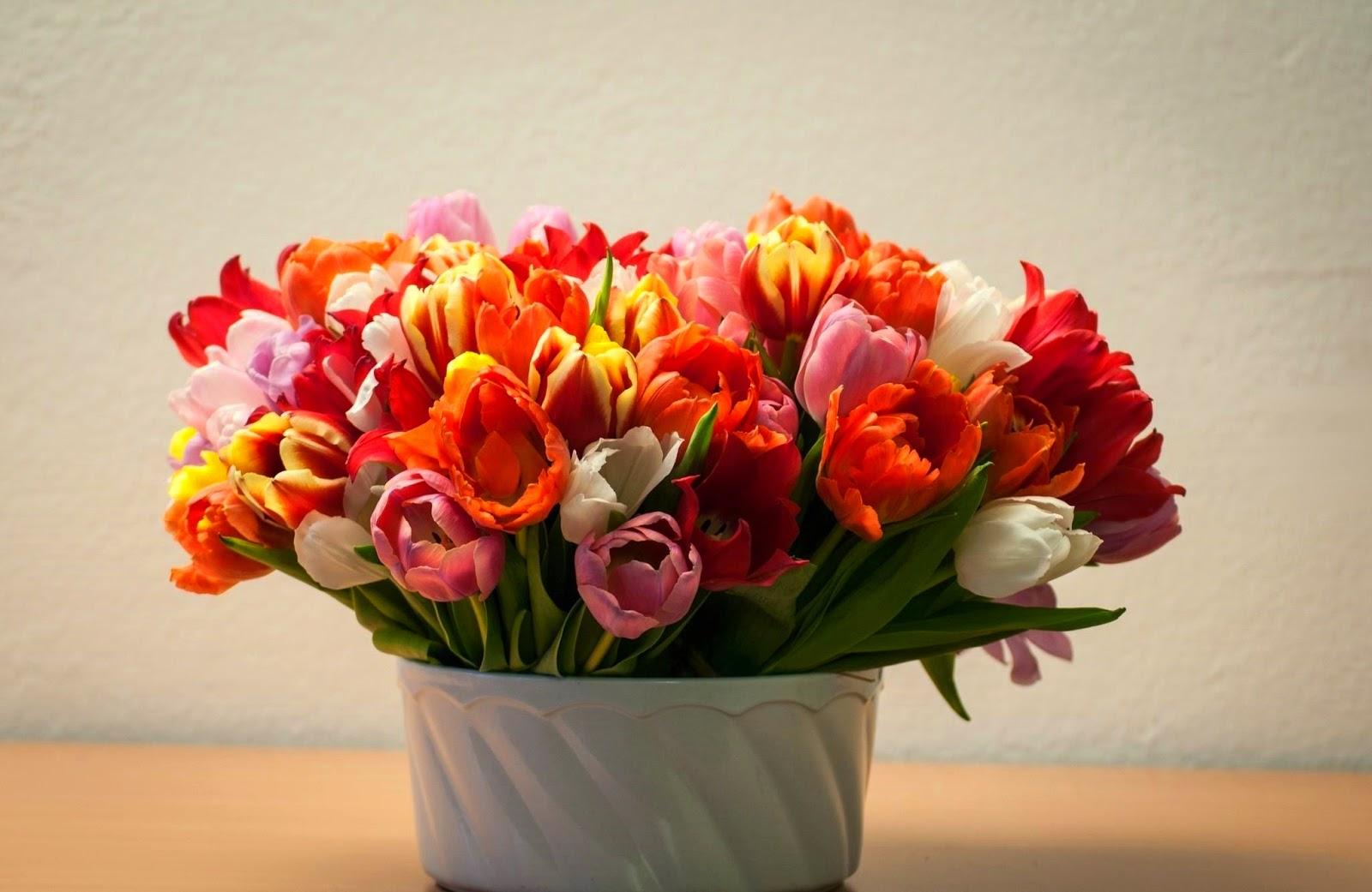 Boeket met gekleurde bloemen