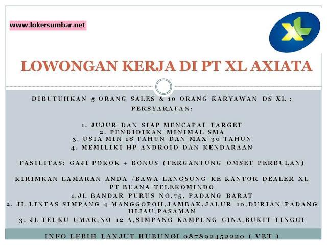 Lowongan Kerja di Sumbar – PT.XL.Axiata – 15 Orang (September 2016)