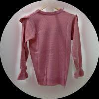 Rajut Renda Rempel Pink Belakang - Toko Busana Pakaian Wanita Hita Nitya