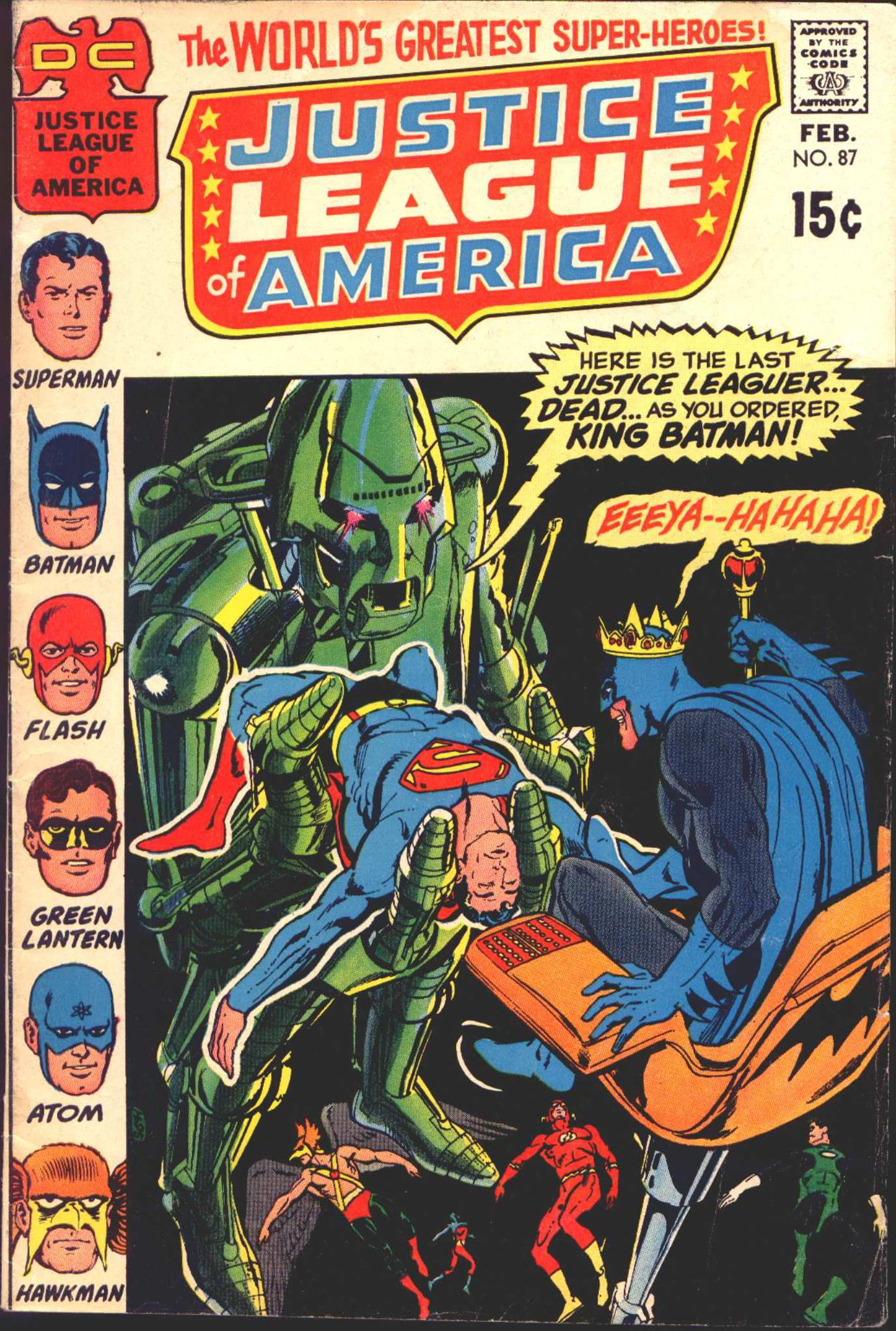 Justice League of America (1960) 87 Page 1